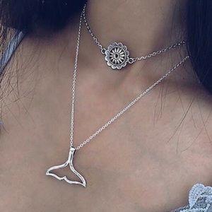 New! Layered Fishtail Mandala Necklace